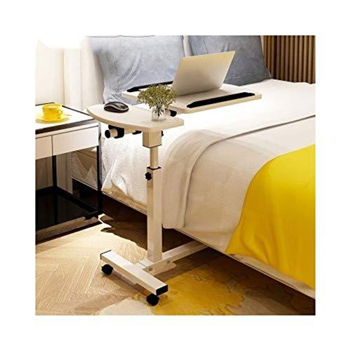 SXGKY Mesa para Cama Mesa Portátil Ordenador Ajustable con Ruedas, Mesa Sofá Mesa De Escritorio para Cama O Sofá Mesa Plegable portátil FF (Color : White)