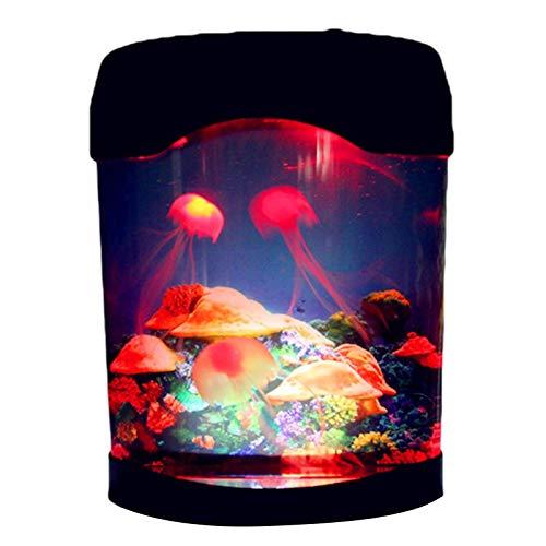 AADEE Luz nocturna de medusas, lámpara LED de escritorio para acuario, lámpara de acuario con cambio de color USB, para decoración del hogar, dormitorio, regalo para mujeres y niños