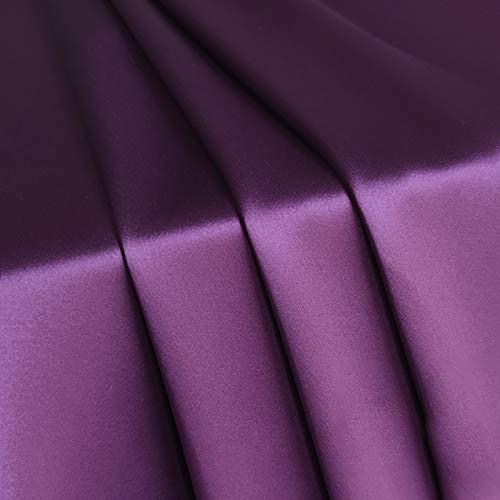 MUYUNXI Tela De Raso Forro De Tela para Vestidos De Novias Fundas Artesanías Vestidos Blusas Ropa Interior 148 Cm De Ancho Vendido por 2 Metro(Color:púrpura)