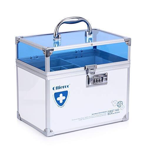 Medicine Safe Lock Boxen Container Gezondheidszorg Geneeskunde Sieraden Voorschrijven Kast Organizer met Combinatie -Dubbele Laag