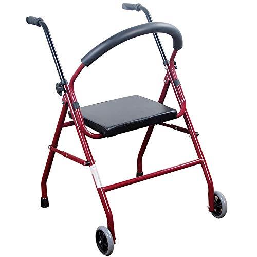 HSRG Bad Stoel Medische Twee Wielen Opgevouwen Walker Met Stoel Mobiliteit Rollator Walker Seat Voor Volwassenen