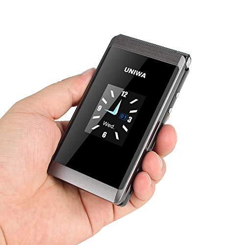 UNIWA X28 Flip teléfono móvil botón grande teléfono 1.7 pulgadas 2.8 pulgadas pantalla dual 2G GSM Dual SIM FM Radio teclado teléfono celular Senior teléfono para ancianos