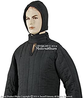Medieval Gears Brand Black Medium Size Type 8 Padded Armour Coat LARP SCA WMA Arming Jacket