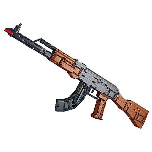 Seasy Juego de construcción para rifle técnico, 1508 bloques de construcción con sujeción, bloques de construcción militares, compatible con Lego