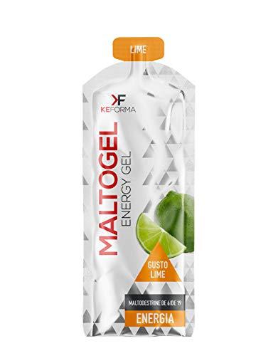 KeForma Maltogel box da 50 MonoPack da 60 ml GLUTEN FREE e LACTOSE FREE 100% Maltodestrine Pure gusto Lime