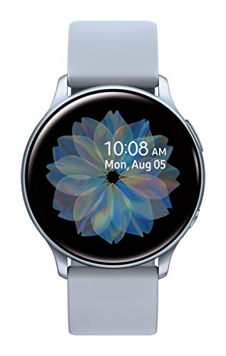 Samsung Galaxy Watch Active2  w/ enhanced sleep tracking analysis, auto workout tracking, and pace coaching (40mm), Cloud Silver - US Version with Warranty