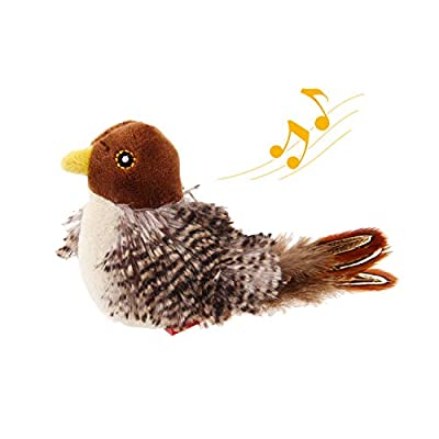 GiGwi Chirping Bird Cat Toy, Interactive Cat Squeak Toy Melody Chaser Bird Toys for Cats to Play Alone, Funny Squeak Kitten Toy for Boredom