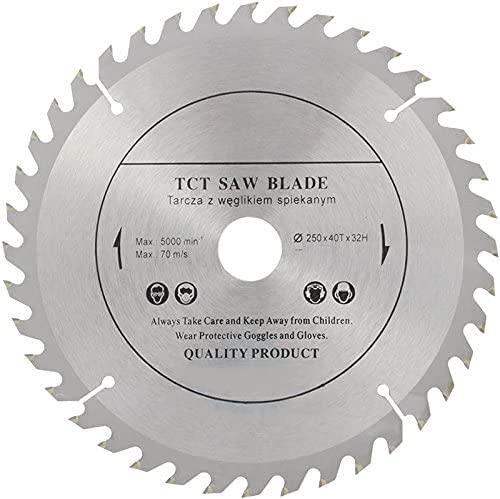 Parte superior calidad sierra de hoja de sierra circular 250 mm x 32 mm diámetro (mm) y 28 mm, 25,4 mm, con anillos reductores) para discos de corte de madera circular 250 mm x 32 mm x 30 dientes