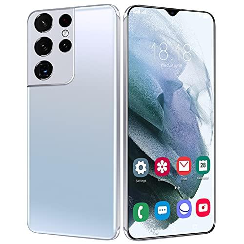 S21 Ultra Smartphone ohne Vertrag, Marxways Android 9.1 Handy Smartphone Dual-SIM Handye entsperrt, 6,3 HD Zoll Display, 4800mAh Akku, 5MP/13MP-Kamera, 4GB RAM/32GB ROM, Face-ID. (#03 Weiß)