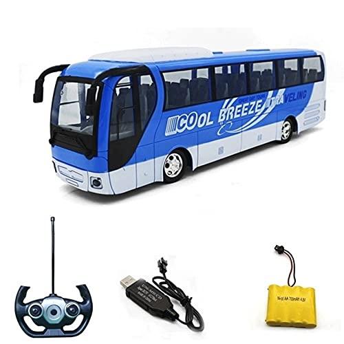 BHJH7 Niño Niña Niño Control Remoto Coche de Juguete Eléctrico Mini autobús público Coches Autobús Juguetes Modelo RC Interruptor Puerta bebés Mayores de 3 año