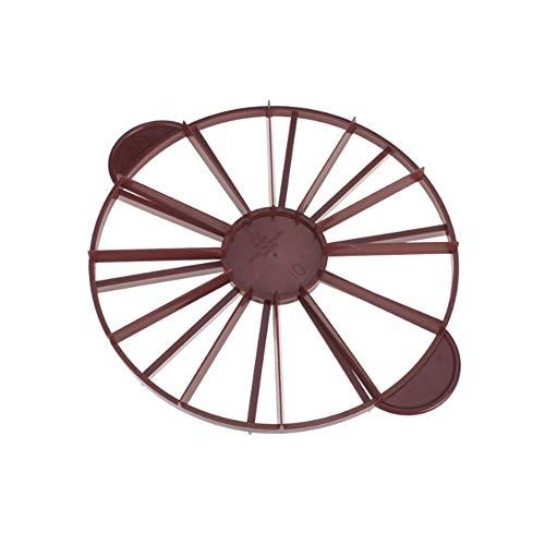 Naisidier Doppelseitiges Kuchenteiler r&e doppelseitige Kuchenteiler 10/12 Stücke Adjustable Kuchen Slicer Kit Mousse Mould Slicing Kuchen Kunststoff Brown
