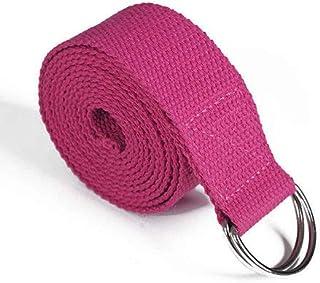Adjustable Yoga Belt Stretch Strap D-String Fitness Training Pilates Elastic Leg Red