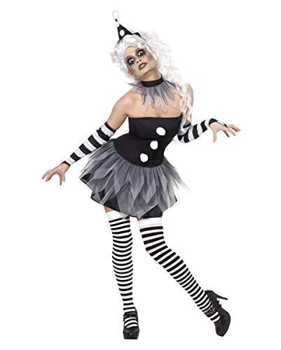 Horror-Shop Finsterer Harlekin Damen Kostüm S 36-38
