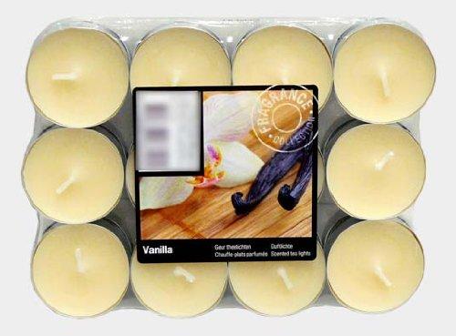 Theelichtjes geurkaars kaars geurtheelicht met geur gekleurd theelicht 24 geurteek (vanille geur)