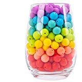 Silicone Teether Beads 12mm 100pc DIY Teether Necklace Bracelet Chew Toys Teething Jewelry Silicone Teething Accessory Kit