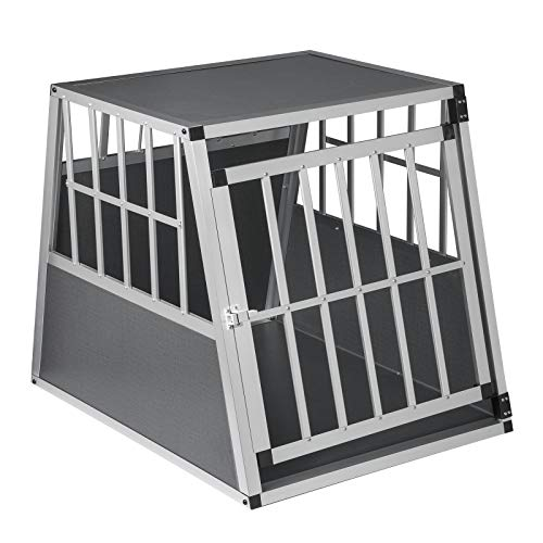 EUGAD Hundebox Transportbox Hundetransportbox Alu Reisebox Gitterbox Box L 85 x B 65 x H 69 cm 0005LL