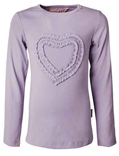 Ipuang Big Girls' Heart-Shaped Long Sleeve T-Shirt 14 Lavender