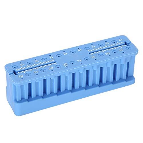 Azul Endodontic Endo Block Herramientas de medición, Fresas de soporte de bloque de fresa Fresas Desinfección Estuche Autoclavable Bloque Archivo Instrumento Regla Equipo