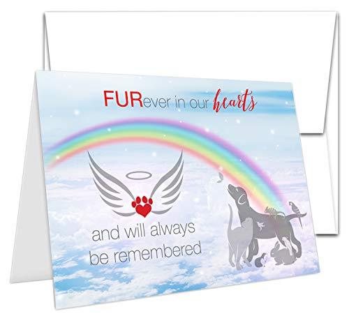 TLC Safety By Design Trauerkarte für Hunde, Katzen, Kaninchen, 12,7 x 17,8 cm, mit Umschlag 1 Card & Envelope