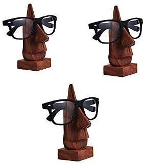 Nirvana Class Handmade Wooden Spectacle Eyeglass Holder Display Stand - Desktop Accessory Set of 3