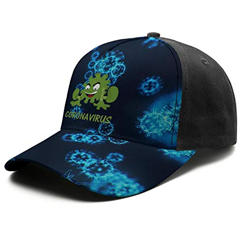 TIINTEXBA Green Coro-navirus Cartoon Printed Baseball Hat for Mens Snapback Golf Cool Breathable Unisex Caps