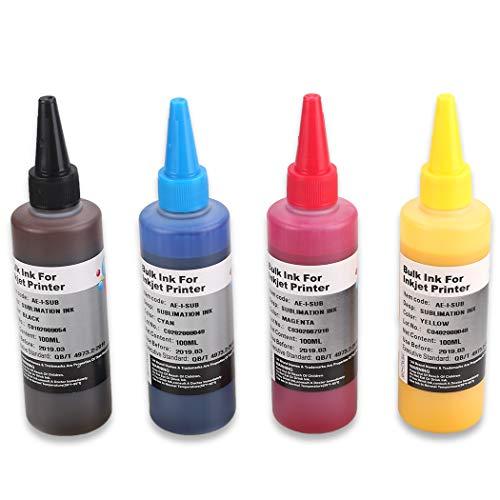 HEMEI 4 flaschen sublimation tinte kompatibel für epson / ricoh 4 farben drucker, übertragen bild auf becher /hut/tassen / platten / polyester t-shirts / phone cases / handwerk schlüsselanhänger etc.
