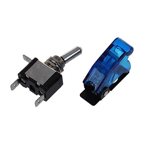 TOOGOO(R) Interruptor ON/OFF Metal LED Tapon Lampara luz Color Azul DC 12V para Coche
