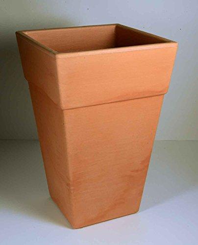 Pot Meta Ponto 30 Terracotta, plastique, 30 x 30 x 46 cm, en bas : 18 x 18 cm