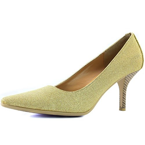 DailyShoes Women's Comfortable Ponited Toe Non-Slip High Heel Pump Shoes, 5.5