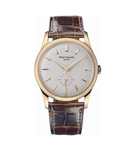 Patek Philippe Calatrava Automatic White Dial 18 kt Rose Gold Mens Watch 5196R