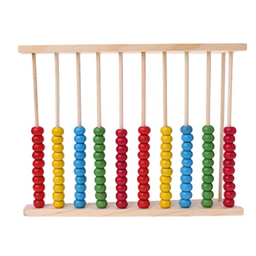 ZZALLL Wooden Abacus 10-Row Colorful Beads Contando Kid Math Learning Juguete Educativo