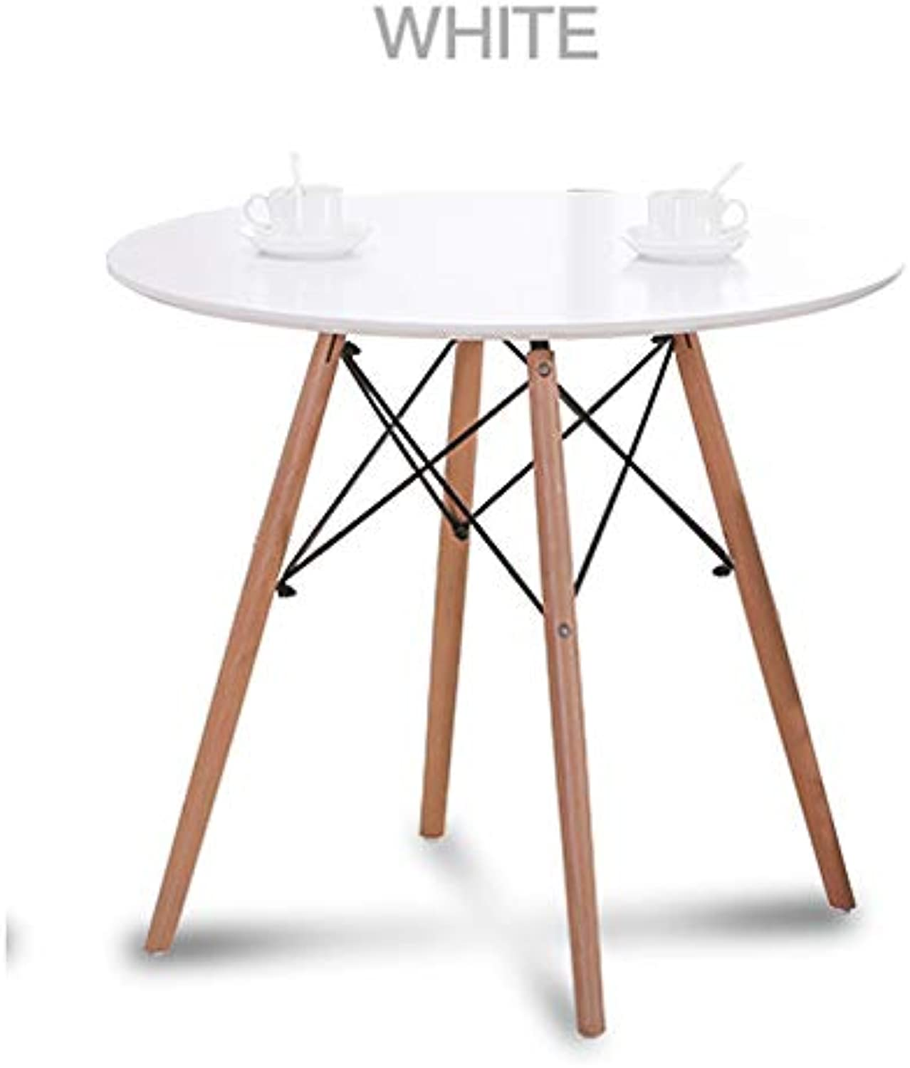 White Table MDF Table top Matt PU Lacquering Solid Beech Wood Legs Adjustable Feet Predectors 60x60x72cm AU Delivery