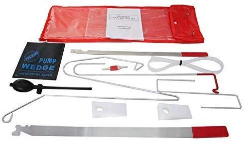 GS Kit de apertura de puerta de coche universal para llave de puerta de coche, kit de herramientas de desbloqueo portátil de emergencia y bomba de aire, herramientas de mano útiles para reparación de coche, herramientas de reparación de bricolaje