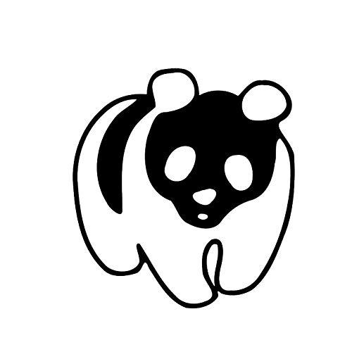 Jinling - Póster de vinilo (13 x 13 cm), diseño de panda gigante de China, color negro y plateado