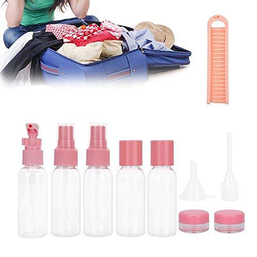 Yuyanshop 11 unids plástico transparente botellas de spray tamaño viaje botella vacía recargable bomba cosmética spray botella maquillaje envase 30ml 40ml 50ml