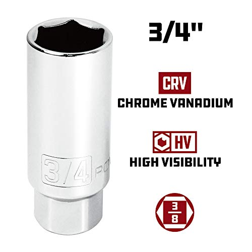 Powerbuilt 640855 3/8-Inch Drive Spark Plug Socket Set, 5-Piece