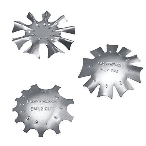 3 Stücke 3 Größe Nailart Edge Trimmer Für Acryl French Nägel Modellage Nagel Kunst Werkzeug Set