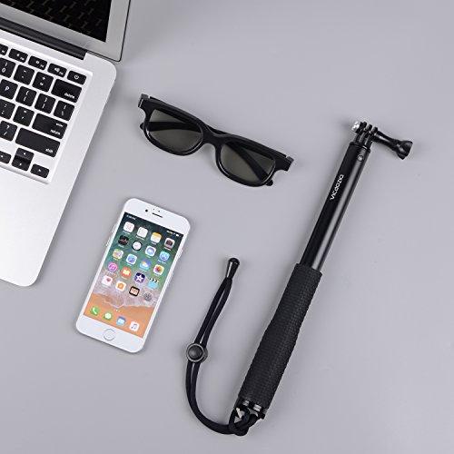 Vicdozia Selfie Stick, 37.5'' Waterproof Extendable Monopod with Mini Tripod Stand Compatible GoPro Hero(2018) Hero 7/6/5/4/3+/3/2/1/Session, AKASO SJCAM Xiaomi Yi, Compact Cameras and Smartphones