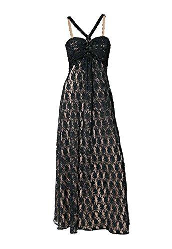 Ashley Brooke event Damen-Kleid Spitzen-Abendkleid Schwarz Größe 42