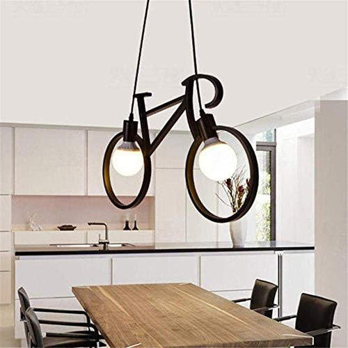 WY-YAN Chandeliers Creative Modern Minimalist Restaurant Bar Aisle Corridor Lamp Bedroom Bicycle Chandeliers Black Decoration Good Light