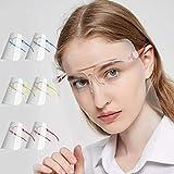 Pantalla Protección Facial Transparente, Face Shield Visor Set con 12...