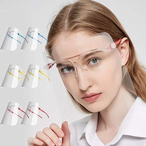 Visiera Protettivo per Adulti e Studenti, Face_Shield con 12 schermi antiappannamento sostituibili e pulibili e 6 occhiali riutilizzabili (A) (b) (B)
