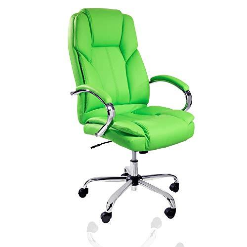 TPFLiving XXL Bürostuhl Dallas Premium, ergonomisch gepolsterter Schreibtischstuhl mit abgebremsten Rollen, Moderner Chefsessel aus Kunstleder, Belastbar bis 215kg