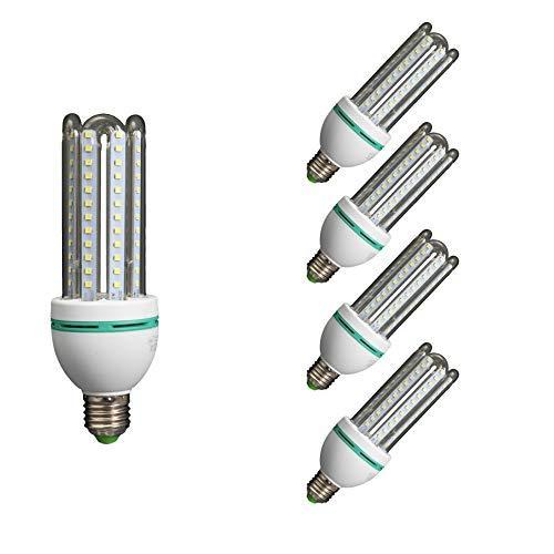 Lámpara Bombilla Led 3U Tubo E27 6400K Luz Fría 12W (Pack5)