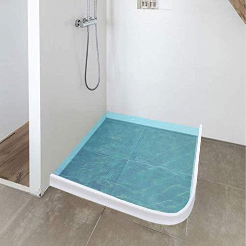 Flexible Nassraumdusche aus Silikon, Bodenabdichtung für das Bad Lässt das Wasser auf dem Boden fließen Richtung ändern (100CM, grau)