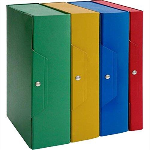 Brefiocart 020E7617.BL Scatole Portaprogetti in Presspan, Colore Blu, Confezione da 5