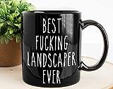 MG Global - Taza negra con diseño de paisajista, taza ocupacional, taza para paisajista, taza para él, paisajista, regalo para paisajista, taza de 11 onzas