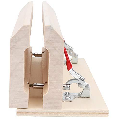 Clip de retención de artesanía de cuero de madera Clip de artesanía de trabajo de cuero de madera profesional Mesa de abrazadera de artesanía de cuero para coser el procesamiento de cuero