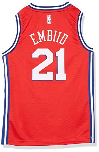 Joel Embiid Philadelphia 76ers Red Youth Alternate Statement Edition Swingman Jersey (Medium 10/12)