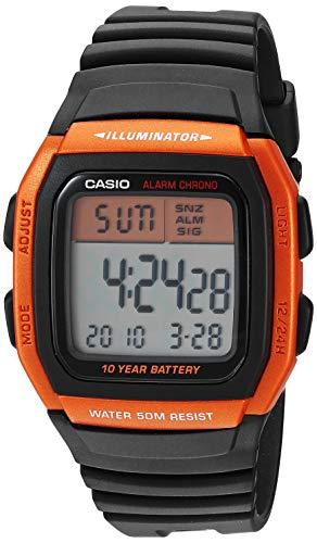 Casio Men's Classic Quartz Resin Strap, Black, 24.5 Casual Watch (Model: W-96H-4A2VCF)